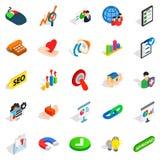 Trade icons set, isometric style Royalty Free Stock Image