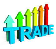 Trade Increasing Indicates Business Graph And Biz Stock Photo