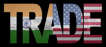 Trade with Indian and American Royalty Free Stock Image