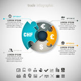 Trade Infographic Royalty Free Stock Photo