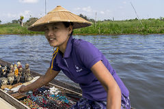 Trade on Inle Lake Stock Images