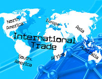 Trade International Shows Across The Globe And World Royalty Free Stock Photos