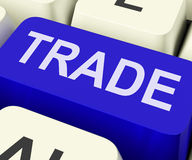 Trade Key Shows Online Buying And Selling Royalty Free Stock Images