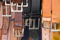trade in leather crafts and accessories Royalty Free Stock Photography