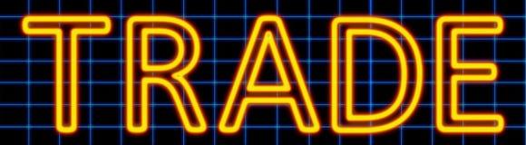 Trade neon sign royalty free illustration