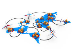 Trade networking Stock Images