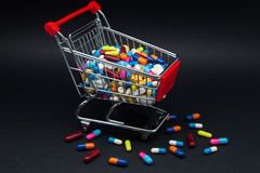 Trade of pills and capsules Royalty Free Stock Images