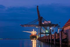 Trade port while load the job Stock Photos