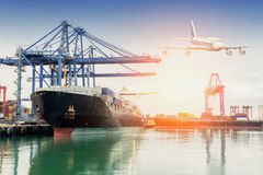 Trade port while load the job. Trade asia port while load the job of Thailand Stock Photography