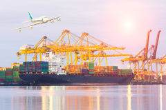 Trade port while load the job Stock Photography