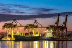 Trade Port. Shipping port in Thailand Stock Photo
