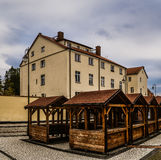 Trade rows in Barczewo, Poland Stock Photography