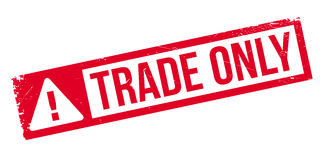 Trade Only rubber stamp Stock Photo