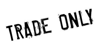 Trade Only rubber stamp Stock Image