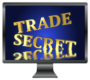 Trade Secret at risk. Loss of confidential informations due to data leak and spying, security concept for computers Stock Photography