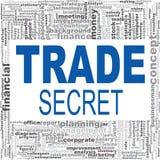 Trade secret word cloud Stock Image