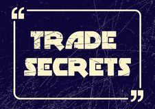 Trade secrets. Inspirational motivational business phrase. Vector illustration vector illustration