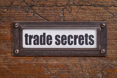 Trade secrets label Royalty Free Stock Photography