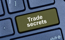 Trade secrets words on computer keyboard Royalty Free Stock Photos