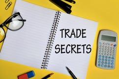 Trade secrets words Royalty Free Stock Photos