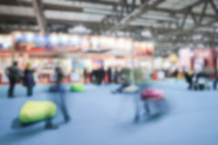 Trade show background with an intentional blur effect applied Royalty Free Stock Photography