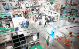Trade show background. Intentionally blurred background, trade show panoramic view stock images