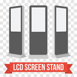 Trade show booth LCD Screen Stand. Stock Photo