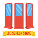 Trade show booth LCD Screen Stand. Royalty Free Stock Images