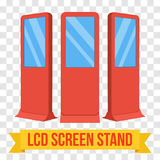 Trade show booth LCD Screen Stand. Stock Photos