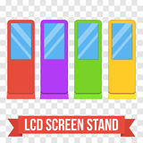 Trade show booth LCD Screen Stand. Royalty Free Stock Photo