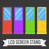 Trade show booth LCD TV Info stands. Royalty Free Stock Image