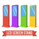 Trade show booth LCD TV Info stands. Royalty Free Stock Images