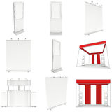 Trade show booth set. Floor Stands Collection. Stock Photography