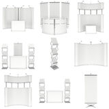 Trade show booth set. Floor Stands Collection. Stock Photos