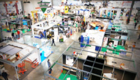 Trade show, intentionally blurred background Royalty Free Stock Image