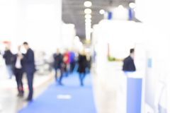 Trade show people, intentionally blurred image. Trade show people, intentionaly blurred background stock photos
