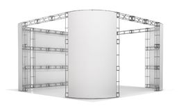 Trade show truss, exhibition pavilion. 3d illustration. Isolated on white Royalty Free Stock Photos