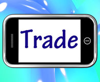 Trade Smartphone Shows Online Buying Selling Royalty Free Stock Photography