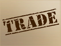 Trade Stamp Represents Ecommerce Commerce And Buying Stock Photography
