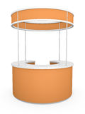 Trade Stand. Circular trade stand. 3D rendered illustration Royalty Free Stock Images