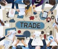 Trade Swap Deal Exchange Merchandise Commerce Concept.  Stock Photo