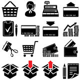 Trade symbol set(black and white) Royalty Free Stock Images