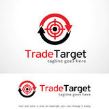 Trade Target Logo Template Design Vector, Emblem, Design Concept, Creative Symbol, Icon. This design suitable for logo or icon Royalty Free Stock Photography