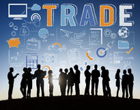 Trade Trading Commerce Deal Exchange Swap Concept. Business People Talking Trade Commerce Deal Exchange Royalty Free Stock Photo