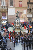 Trade union demonstration in Italy Royalty Free Stock Image