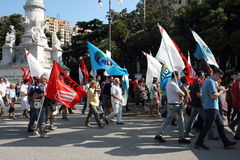 Trade union demonstration Royalty Free Stock Image