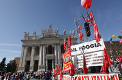 Trade union demonstration in Rome Stock Image