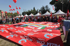 Trade union demonstration in Rome Royalty Free Stock Images