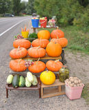 Trade in vegetables at road Royalty Free Stock Image