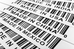 Trade war. Barcode, trade war, business concept Royalty Free Stock Photo